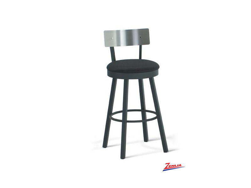 Laur Swivel Stool Stainless Steel Back