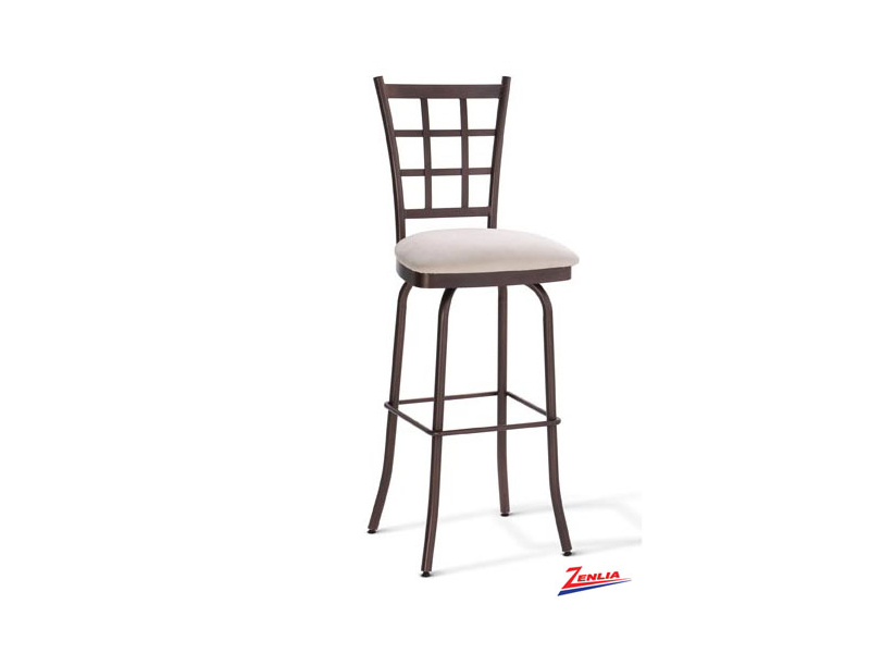 Style  41469 Metal Fabric Swivel Stool