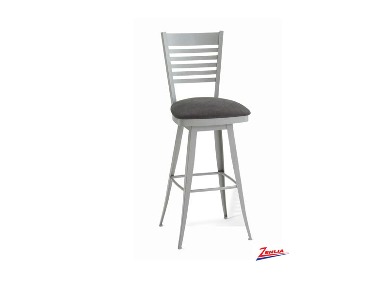 Style  41498 Metal Fabric Swivel Stool