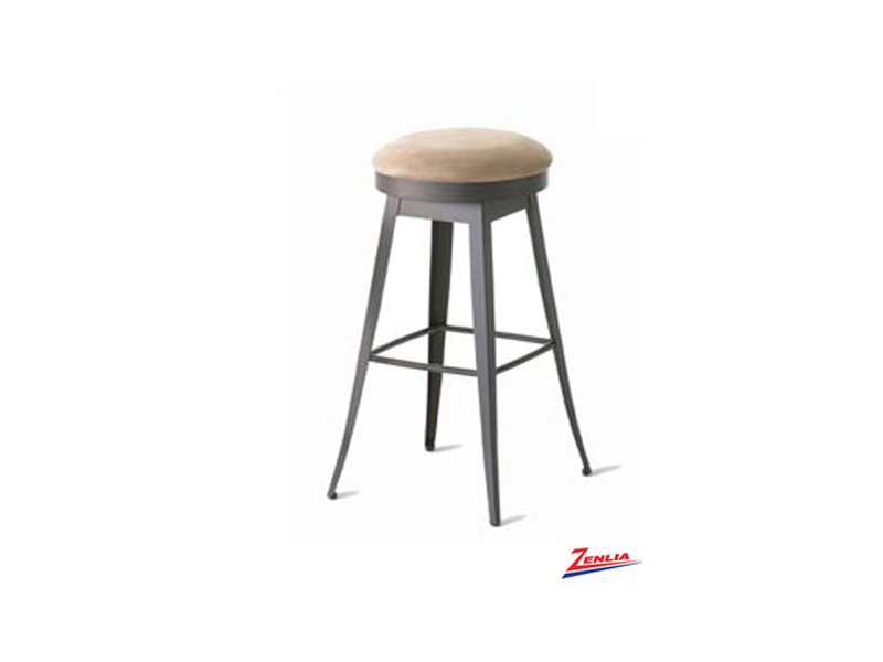 Style  42-414 Metal Fabric Swivel Stool
