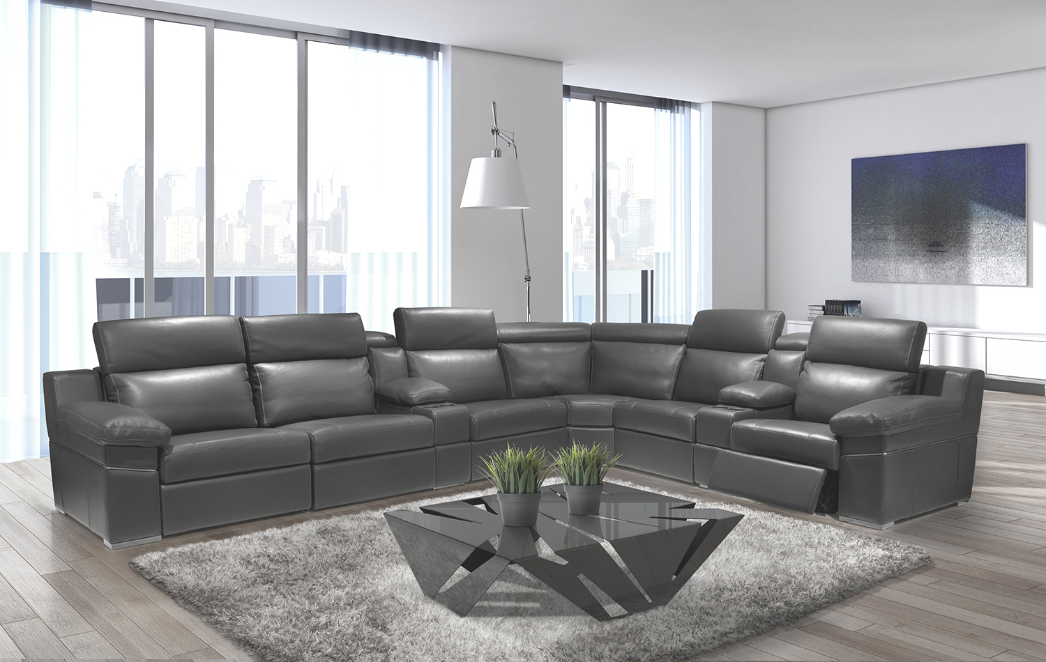 Ari modern sectional sofa reclining sectionals for Modern sectional sofas