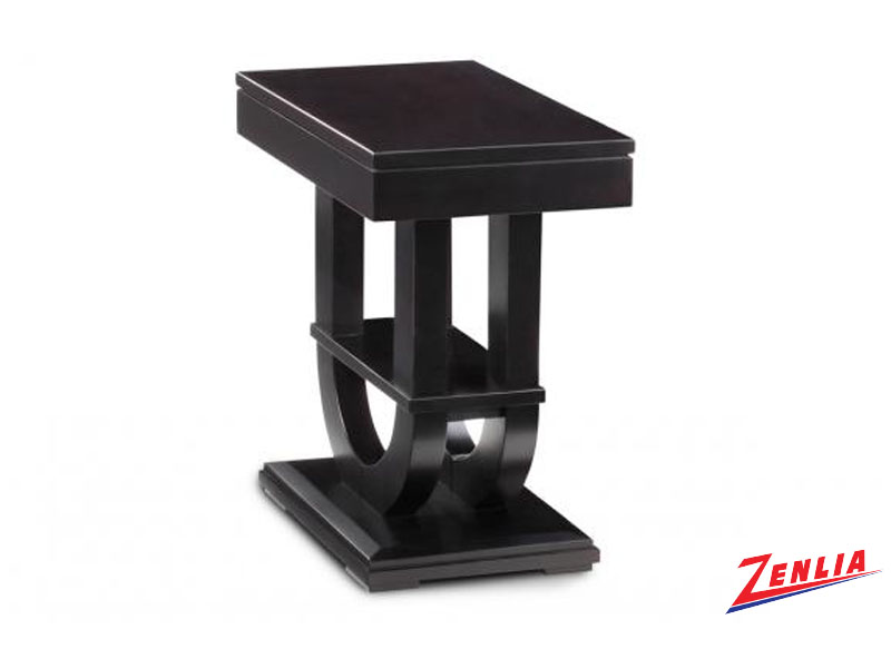 Cont Pedestal Chair Side Table