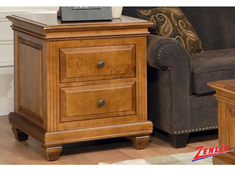 Florent End Table With 2 Drawers