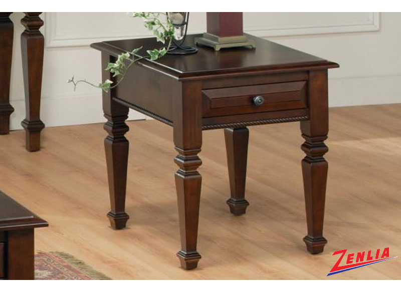 Florent Four Legged End Table With One Drawer