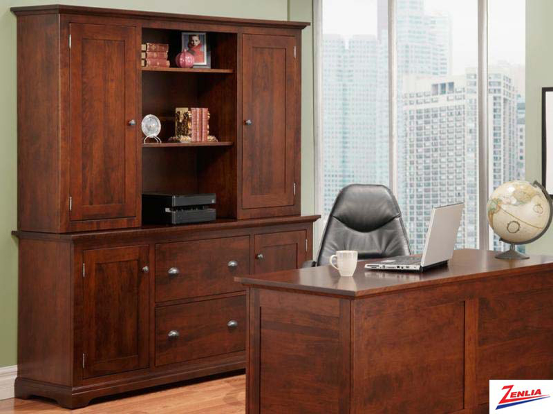 Mars Office Credenza With Hutch