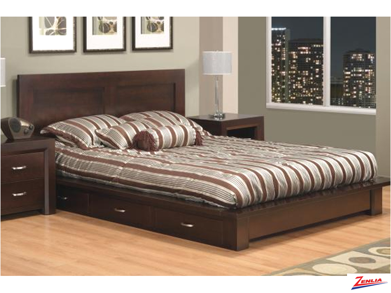 Cont Platform Storage Bed