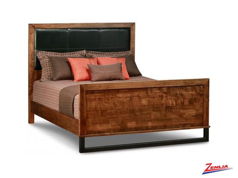 Cumb Upholstered Headboard Bed With High Footboard