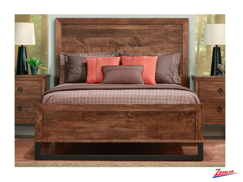 Cumb Wood Headboard Bed With Low Footboard