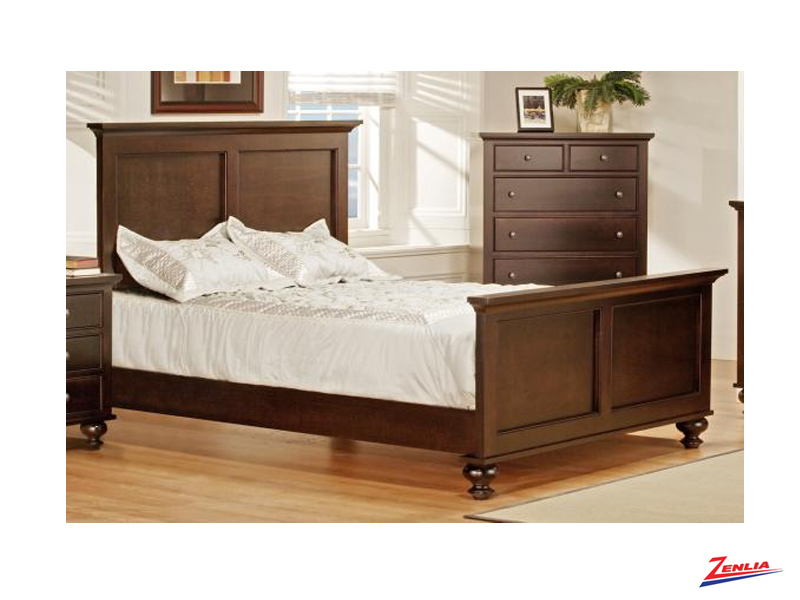 George Bed With High Footboard Beds Bedroom Furniture Solid Wood Furniture Zenlia Home Store