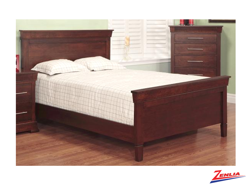 Kens Bed With High Footboard