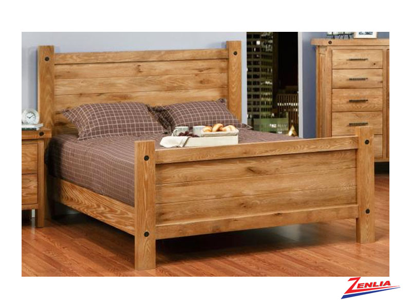 Raft Bed With High Footboard
