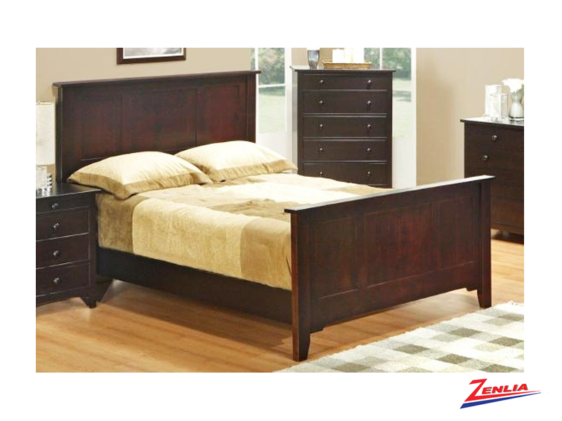 Shak Bed With High Footboard