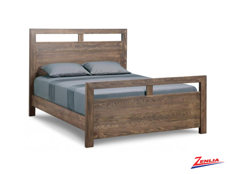 Steel Bed With High Footboard