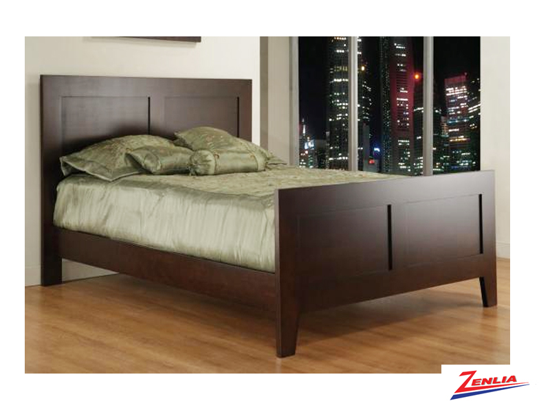 Tran Bed With High Footboard