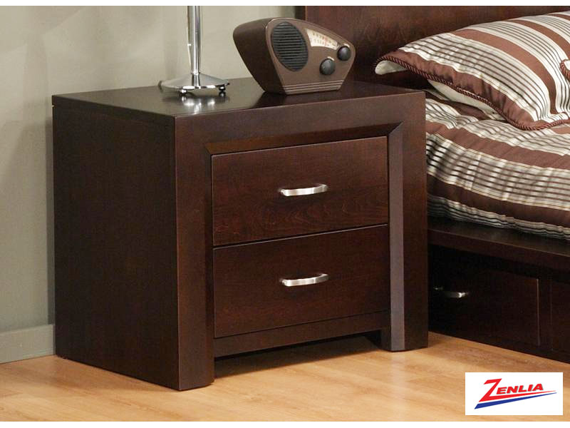 Cont Two Drawer Nightstand