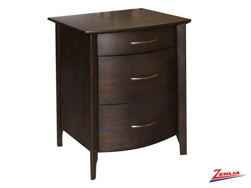 Demi Three Drawer Night Stand