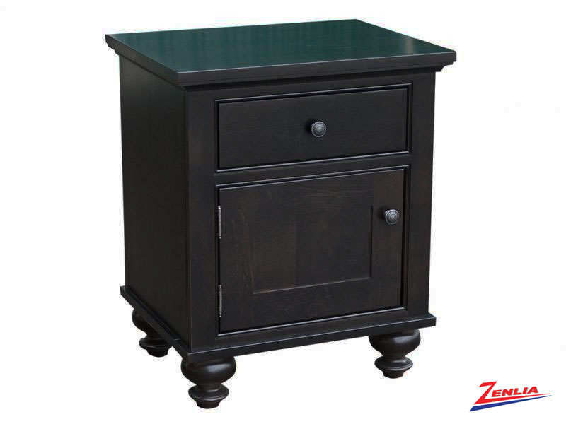 George One Door One Drawer Nightstand