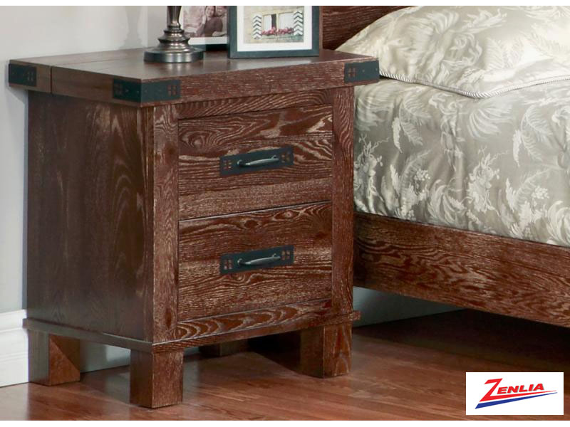 Hammer Two Drawer Nightstand