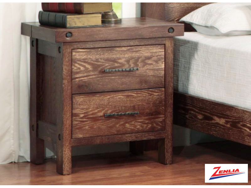Raft Two Drawer Night Stand
