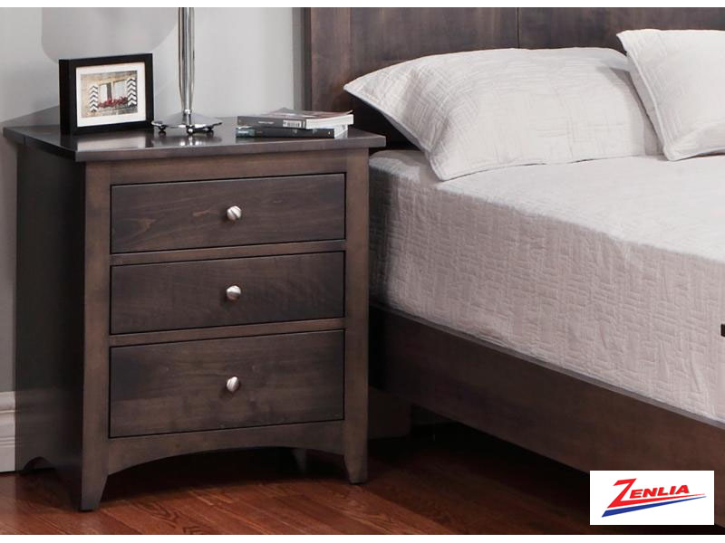 Shak Three Drawer Night Stand