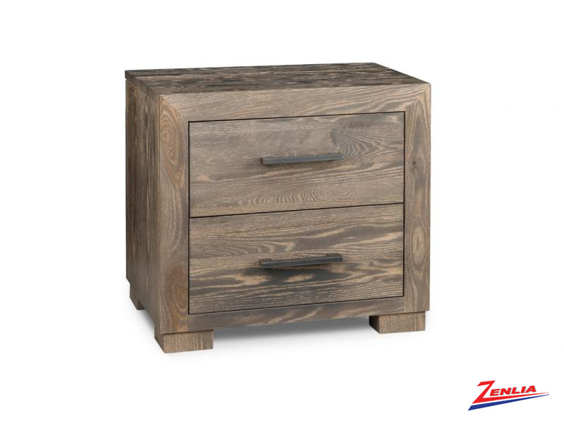 Steel Two Drawer Night Stand