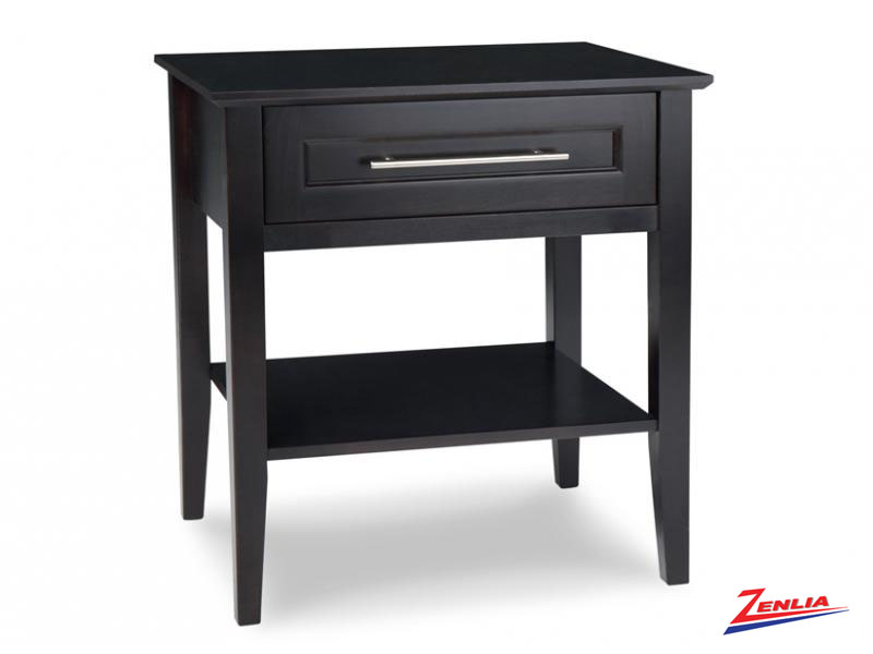 Stock One Drawer Open Night Stand