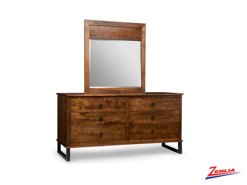 Cumber 6 Drawer Long Dresser & Mirror