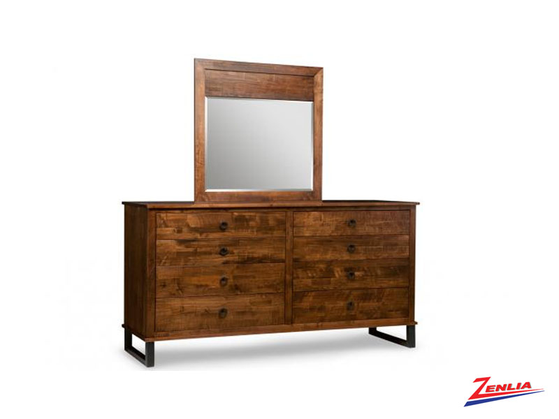Cumb 8 Drawer Long Dresser &  Mirror