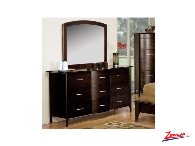 Demi 9 Drawer Dresser & Mirror