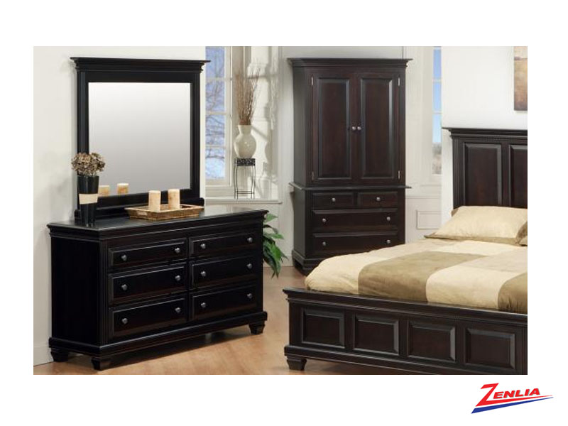 Florent 6 Drawer Dresser &  Mirror