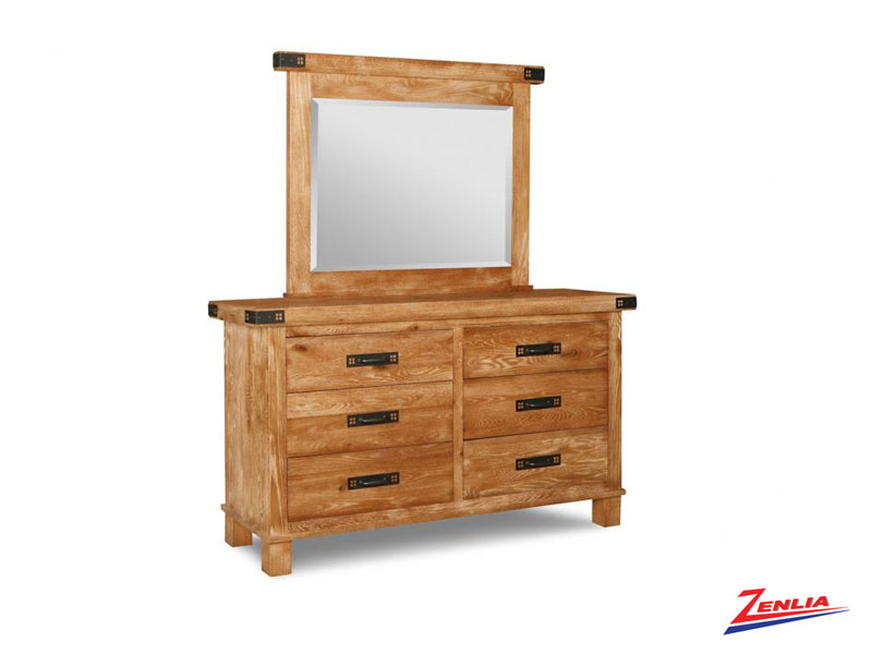 Hammer 6 Drawer Dresser &  Mirror
