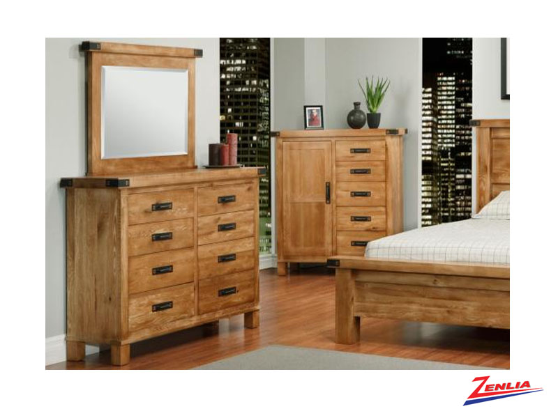 Hammer 8 Drawer Dresser &  Mirror