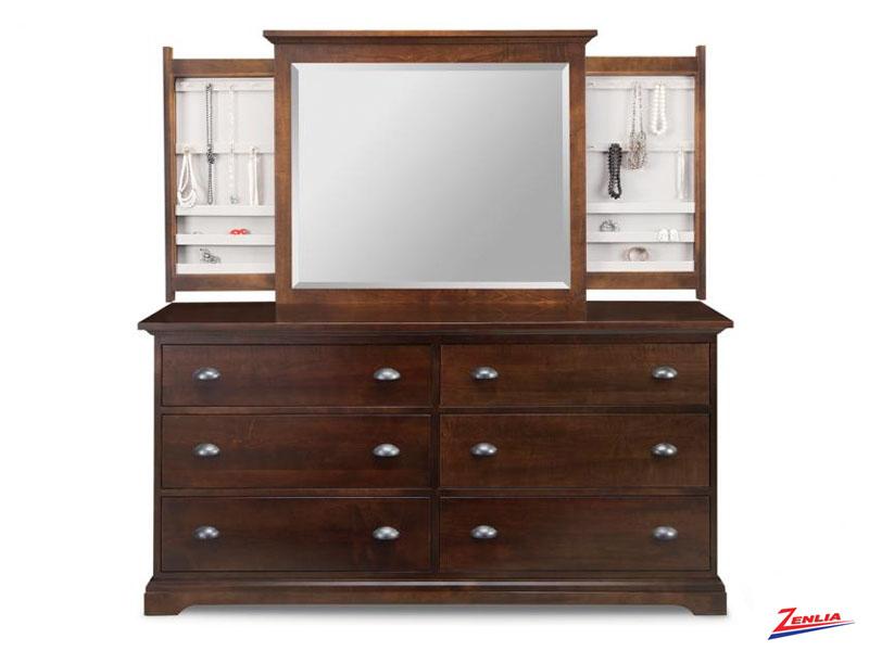 Mars 6 Deep Drawer Long Dresser &  Mirror
