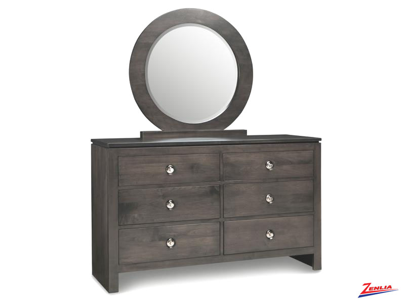 Orl 6 Drawer Double Dresser & Mirror