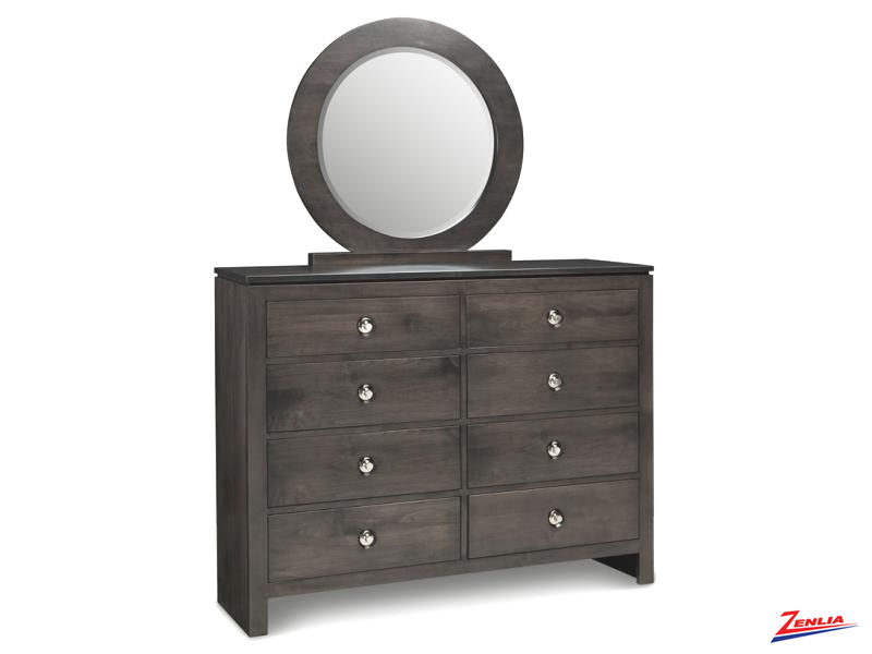 Orl 8 Drawer Double Dresser & Mirror