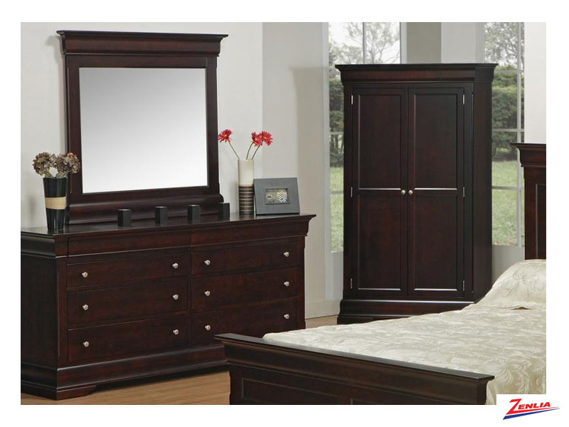 Phill 8 Drawer Double Dresser & Mirror