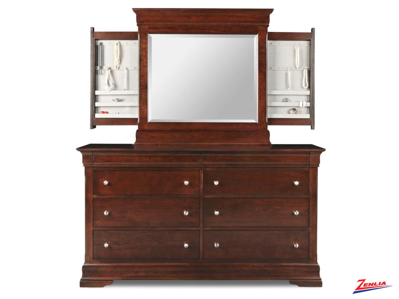 Phill 8 Drawer Double Dresser W/deep Drawers