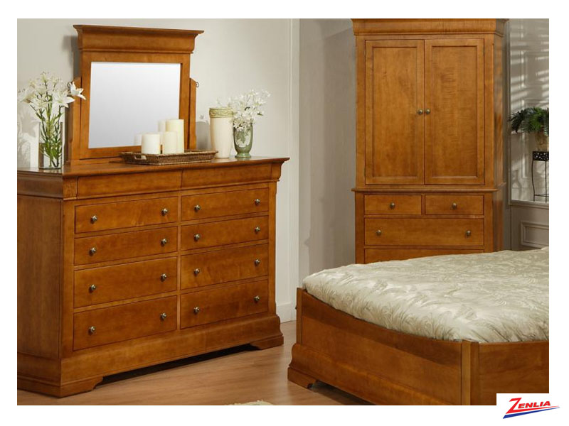 Phill 10 Drawer High Double Dresser & Mirror