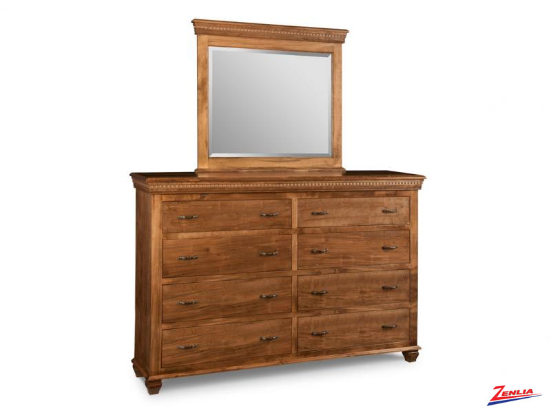Proven 8 Drawer Long Dresser & Mirror