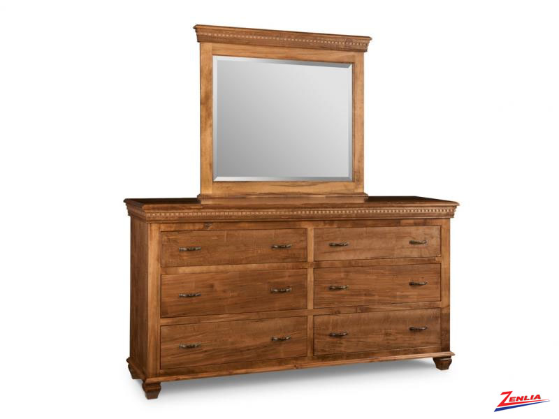 Proven 6 Drawer Long Dresser & Mirror