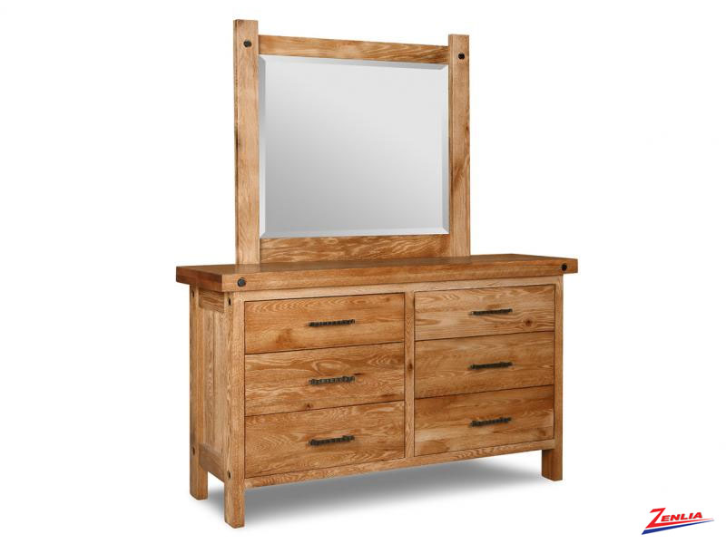 Raft  6 Drawer Dresser & Mirror