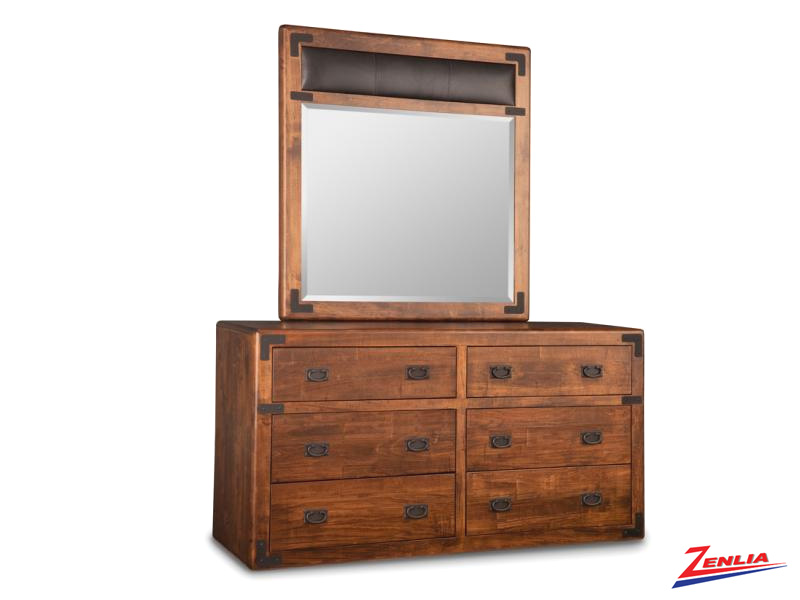 Sara 6 Drawer Dresser And Mirror