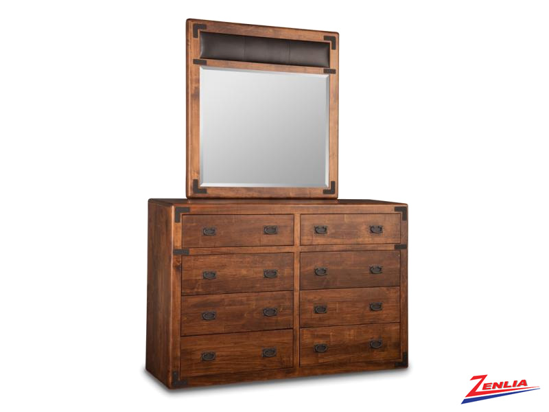Sara 8 Drawer Dresser & Mirror