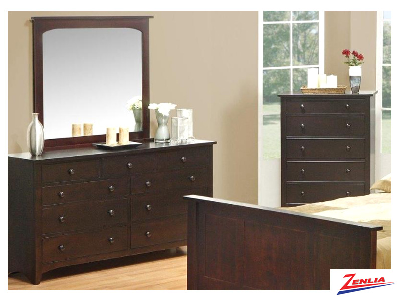 Shak 9 Drawer Dresser & Mirror