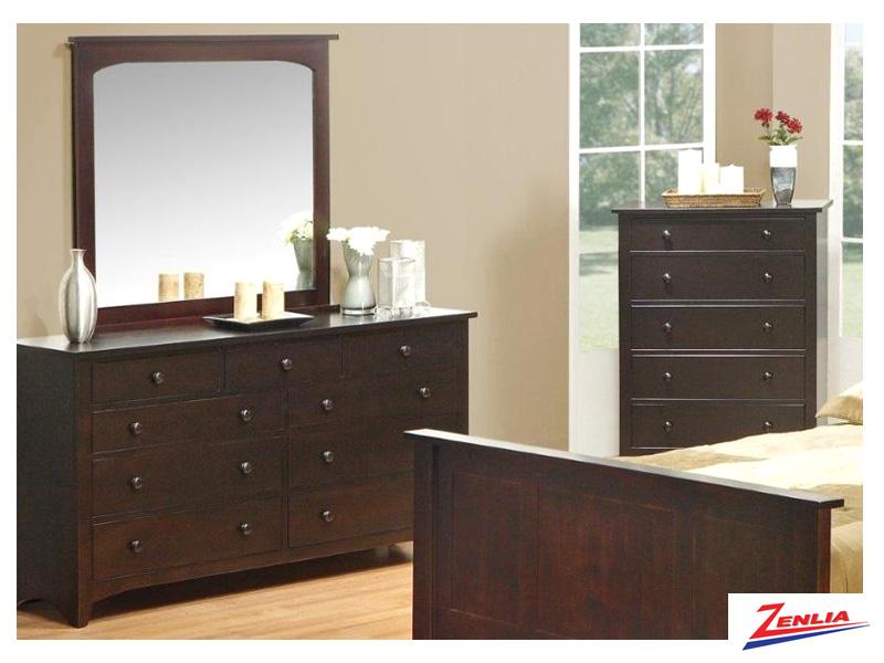 Shak 9 Drawer Dresser And Mirror