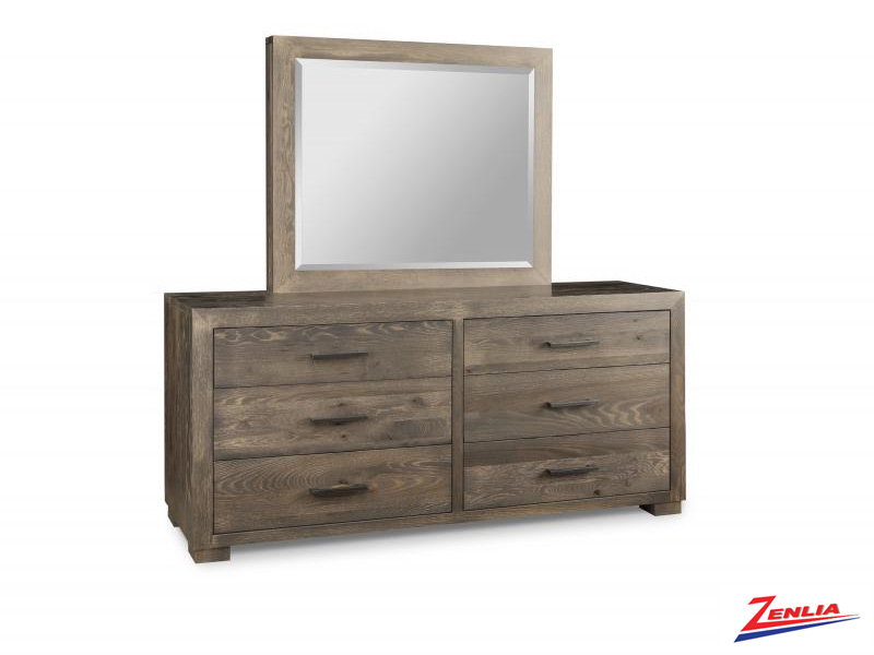 Steel 6 Drawer Dresser And Mirror