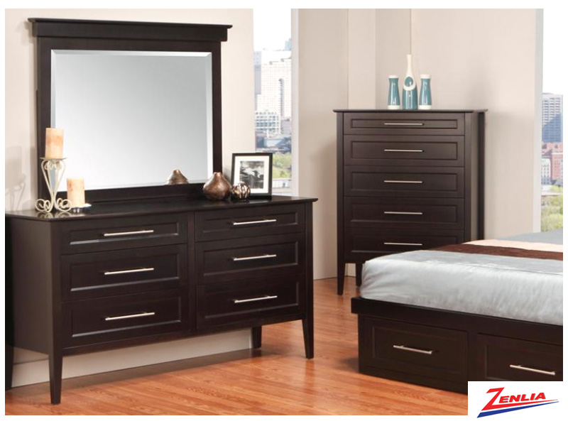 Stock 6 Drawer Dresser & Mirror