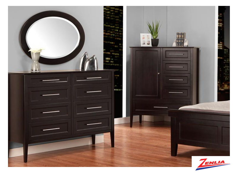 Stock 8 Drawer Dresser & Mirror