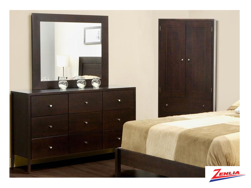 Tran 9 Drawer Dresser &  Mirror