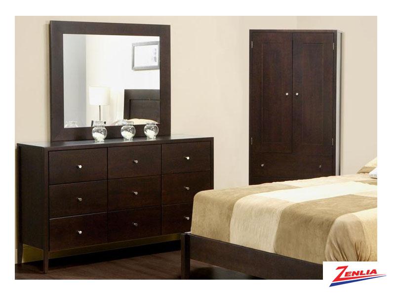 Tran 9 Drawer Dresser &  Mirror
